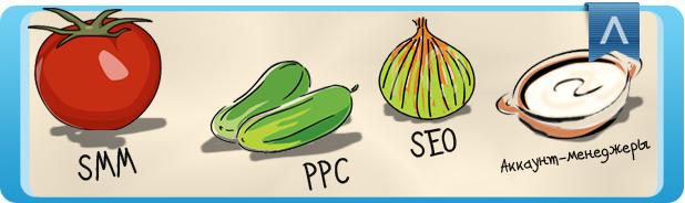 Продвижение сайта и салат. Что общего?