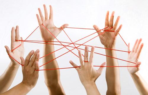 Социальные связи на простом примере
