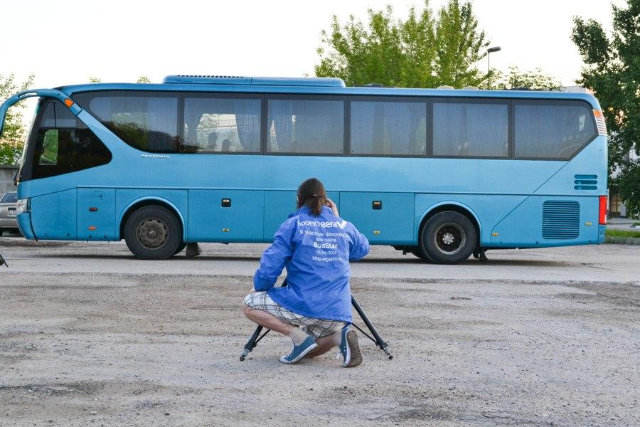 Процесс фотосъемки автобусов для Busstar.ru