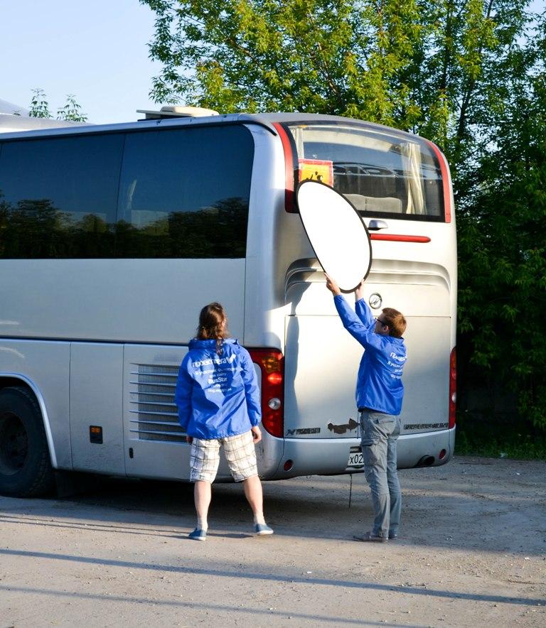 Прибыл второй автобус Busstar на фотосессию для сайта